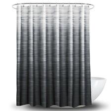Gradient Stripe Print Waterproof Home Bathroom Shower Curtain Decor With Hook LG