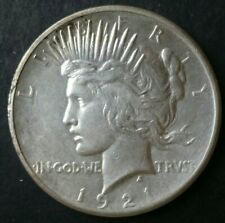 1921 $1 Peace Silver Dollar, High-Relief