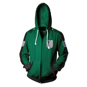 Attack on Titan AOT Hoodie Survey Corps Recon Corps Wings of Freedom Sweatshirt