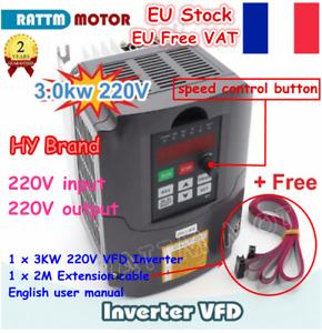 〖FR&EU〗Huanyang Inverter 220V 3KW 4HP Variable Frequency Drive VFD Speed Control