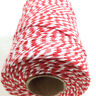 BEAUTIFUL EVERLASTO BAKERS TWINE RED / WHITE 2mm 2 PLY - STRING CORD TWO TONE