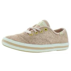Keds For Kate Spade Girls Champion Glitter Pink Canvas Sneakers Shoes BHFO 2422