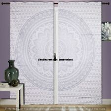 Indian Tab Top Mandala Window Curtains Boho Hippie Tapestry Room Decor Curtains