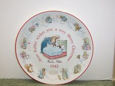 Beatrix Potter Wedgwood Peter Rabbit 1982 Christmas Plate