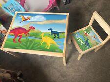 Personalised IKEA LATT Children's Table 1 Chair Kids Set Dinosaur T-Rex Jurassic