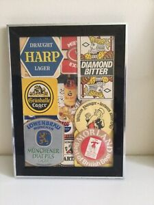 Collectible Pub  Beer Mat Picture Frame Ideal For Home Bar / Man Cave
