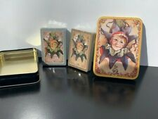 Vintage Playing Cards Enesco 1985 Joker Iop Never Played With #7832 In Tin