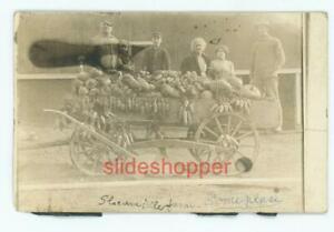 AZO 1904-1918 RPPC Postcard Slocumville Farm Family Wagon Filled with Produce