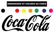 Sticker Coca Cola autocollant decals Frigo Logo Coloris au choix