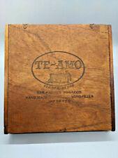 Vintage Te Amo Churchill Wooden Hinged Dovetail Cigar Box Mexico Empty