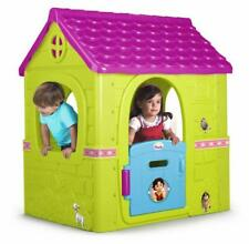 Feber Heidi House Fantasy Playhouse Pink Green Childrens Indoor Outdoor Toy