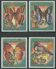 COMORES N°492/495** Oiseau papillon Scoutisme, 1989 Comoro Scout Butterfly MNH