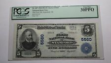 $5 1902 Stamford Texas TX National Currency Bank Note Bill Ch. #5560 VF30 PCGS