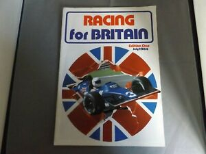 RACING FOR BRITAIN MAGAZINE - ISSUE 1 - JULY 1984