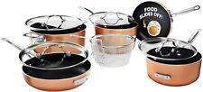Gotham Steel Stackmaster Pots & Pans Set – Stackable 10 Piece Cookware Set! New