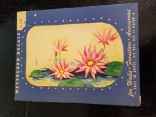 Vintage Meyercord Decal Flower Lilly In Water #873E