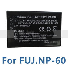 Battery for PRAKTICA M8 W0001 DCV50 HDi9 HD11.0i NP60 Creative Vado HD DIVI  428