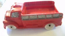 VINTAGE 1950s AUBURN RUBBER # 518 STAKE TRUCK W/DRIVER - 5 1/2 INCHES LONG