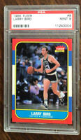 1986 FLEER BASKETBALL #9 LARRY BIRD PSA 9 MINT BOSTON CELTICS LEGEND LOOK **