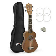 Tiger Music UKE12-NT Natural Soprano Ukulele With Bag