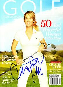 CRISTIE KERR LPGA Signed Golf Magazine PSA/DNA BAS Guaranty Great Auto - HOT!!!