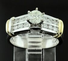 1.00 ct 14k Solid White gold Ladies Natural Diamond Ring pre owned