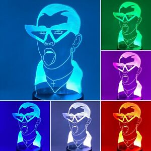 Bad Bunny Led Night Light, Lamp, Perreo Sola, Reggaeton,+ Remote & FREE SHIPPING