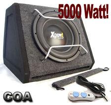 SUBWOOFER AUTO ATTIVO AMPLIFICATO MEGA BASS da 30 cm con 5000 Watt Max PMPO !!!!