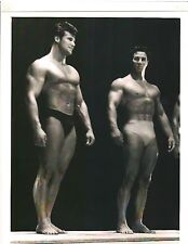 Steve Reeves + REG PARK Side by Side at 1950 Mr.Universe Bodybuilding Show B&W