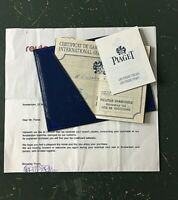 Certificate Guarantee PIAGET GOVERNOR #15968 Men's Wristwatch COA Papers