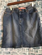 Roxy Jean Quiksilver Straight Denim Skirt Size 5
