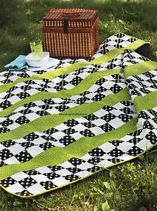 Squares And Stripes Quilt Pattern Pieced CT