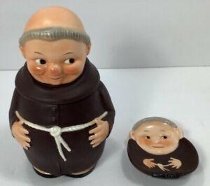 Vintage Hummel Goebel Friar Tuck Monk Rare Tobacco Humidor RX106 and Ash Tray