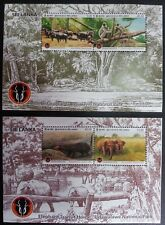 Collecting Postal stamps 2 sheets Animals Udawalawa National Park Sri lanka