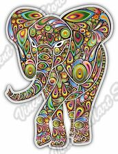 "Elephant Abstract Colorful Rainbow Car Bumper Vinyl Sticker Decal 3.5""X5"""