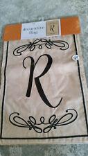 """New listing Monogram Garden Flag Double Sided Letter """"R"""""""