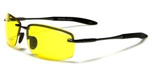 Polarised Night Driving Rimless Glasses Flexi Hinges Anti Glare Full UV400