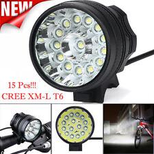 CREE XM-L T6 15LED 3Mode Bicycle Lamp Bike Light Headlight Cycling TorchLight YI