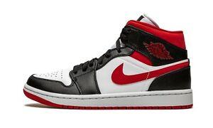 Air Jordan 1 Mid Metallic Red Gym Red Black White 554724-122 (Men's)