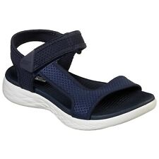 LADIES SKECHERS ON THE GO 600 RUBIX NAVY/WHITE STRAPPY SANDALS 16176/NVW