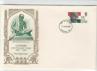 gandhi centenary year 1969 fdc stamps cover ref 12886