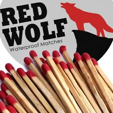 Waterproof Wooden Matches Red Wolf 300 Count Camping Survival Emergency 2 Tins