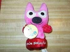 "Hallmark Hoops and Yoyo 7.5"" Pink and Red Talking Plush YOU'RE SIZZLING HOT NWT"