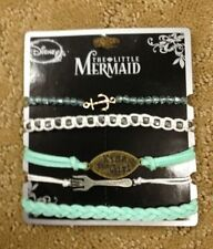 Disney The Little Mermaid Ariel Kiss The Girl Bracelet Set Gift New With Tags!