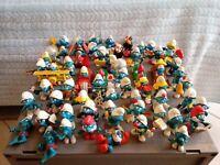 62 Lot Vintage  70's 80's Smurf PVC Figures W Germany,PORTUGAL,HON KONG.