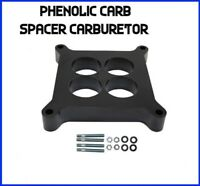 "Edelbrock Carburetor Spacer 4-Barrel Square Bore 1/"" Phenolic 4-Hole 8711"