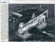 1969 Artist Conception of Atlantis Continental Shelf Habitat Press Photo