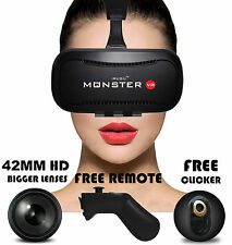 IRUSU MONSTER vr headset with remote vr glasses 42MM HD Fully Adjustable Lenses.