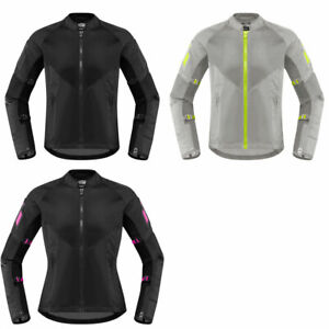 2019 Icon Womens Mesh AF Textile Motorcycle Jacket CE Rated - Sport Fit