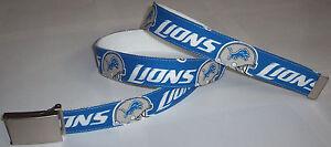 Detroit Lions BELT & Buckle Logo Pro Football Fan Gear NFL Shop Team Apparel New